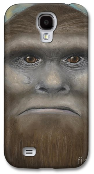 Science Fiction Pastels Galaxy S4 Cases - Bigfoot Galaxy S4 Case by Rebekah Sisk