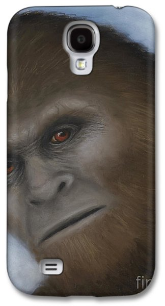 Science Fiction Pastels Galaxy S4 Cases - Bigfoot The Unexpected Encounter Galaxy S4 Case by Rebekah Sisk