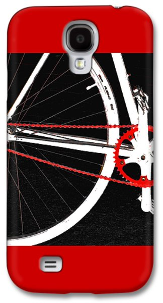 Bike In Black White And Red No 2 Galaxy S4 Case by Ben and Raisa Gertsberg