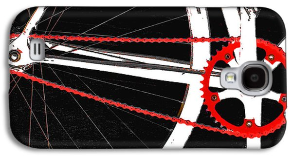 Orb* Galaxy S4 Cases - Bike In Black White And Red No 2 Galaxy S4 Case by Ben and Raisa Gertsberg