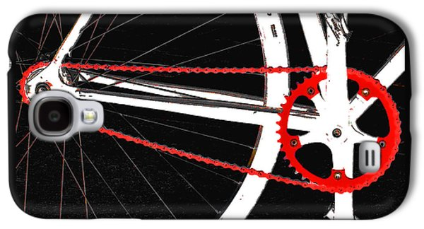 Gear Photographs Galaxy S4 Cases - Bike In Black White And Red No 2 Galaxy S4 Case by Ben and Raisa Gertsberg