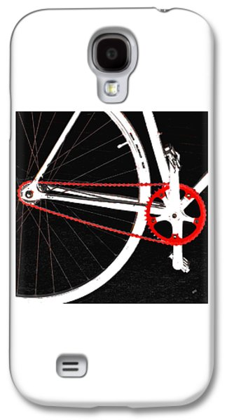 Abstraction Photographs Galaxy S4 Cases - Bike In Black White And Red No 2 Galaxy S4 Case by Ben and Raisa Gertsberg