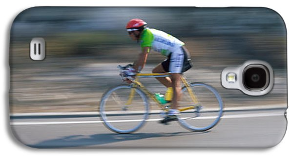 Sports Photographs Galaxy S4 Cases - Bike Racer Participating In A Bicycle Galaxy S4 Case by Panoramic Images