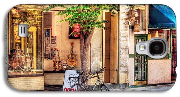 Old Mill Scenes Photographs Galaxy S4 Cases - Bike - The Music Store Galaxy S4 Case by Mike Savad