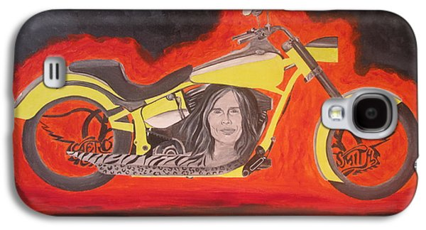 Steven Tyler Paintings Galaxy S4 Cases - Biker Galaxy S4 Case by Jeepee Aero