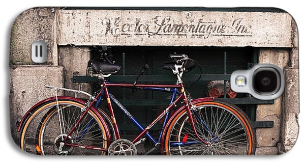 Old Montreal Galaxy S4 Cases - Bikes in Old Montreal Galaxy S4 Case by John Rizzuto