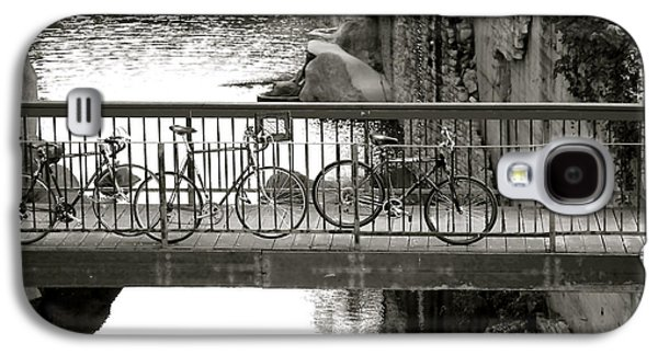 Bikes Over Waller Creek Galaxy S4 Case by Kristina Deane