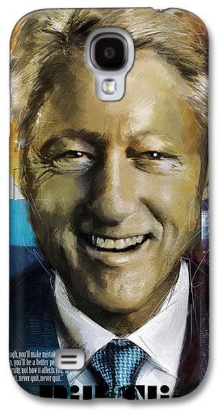 Democrat Paintings Galaxy S4 Cases - Bill Clinton Galaxy S4 Case by Corporate Art Task Force