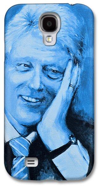 Bill Clinton Galaxy S4 Cases - Bill Clinton Galaxy S4 Case by Victor Minca