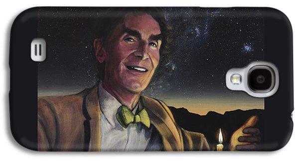 Bill Nye - A Candle In The Dark Galaxy S4 Case by Simon Kregar