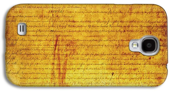 Bill Of Rights Galaxy S4 Case by Daniel Hagerman