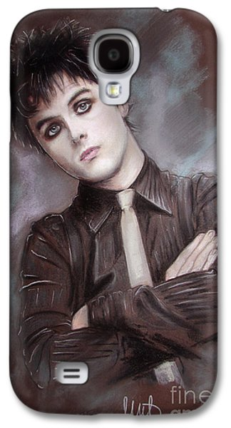 Green Pastels Galaxy S4 Cases - Billie Joe Armstrong Galaxy S4 Case by Melanie D