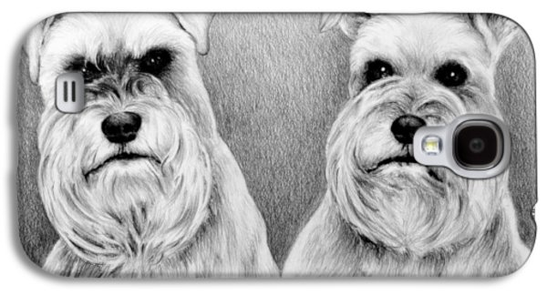 Dogs Digital Galaxy S4 Cases - Billy and Misty Galaxy S4 Case by Andrew Read