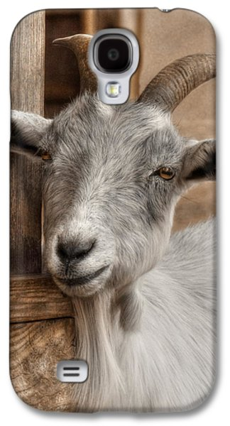 Goat Digital Art Galaxy S4 Cases - Billy Goat Galaxy S4 Case by Lori Deiter