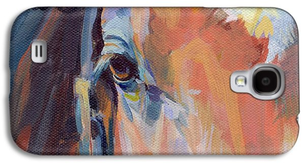 Horse Racing Galaxy S4 Cases - Billy Galaxy S4 Case by Kimberly Santini