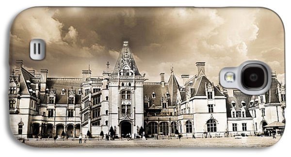 Historical Buildings Galaxy S4 Cases - Biltmore Mansion Estate Architecture - Biltmore Estate Mansion Asheville North Carolina Galaxy S4 Case by Kathy Fornal