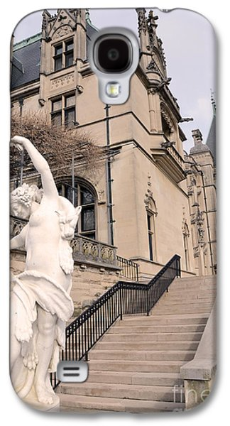 Historical Buildings Galaxy S4 Cases - Biltmore Mansion Estate Italian Architecture and Sculptures Statues Galaxy S4 Case by Kathy Fornal