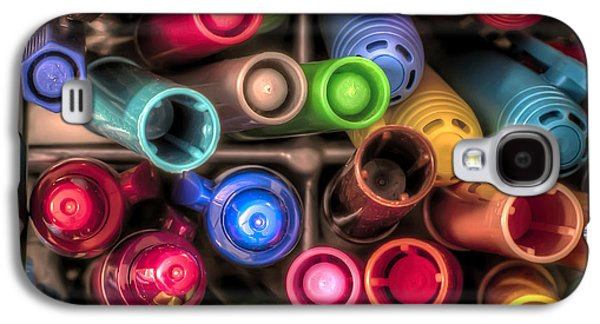Studio Photographs Galaxy S4 Cases - Bin Full of Markers Galaxy S4 Case by Scott Norris
