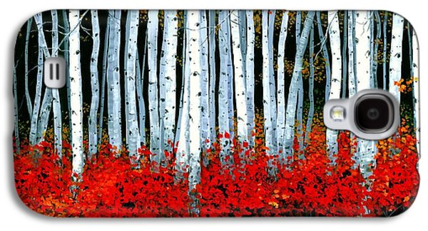 Design Paintings Galaxy S4 Cases - Birch 24 x 48 - SOLD Galaxy S4 Case by Michael Swanson