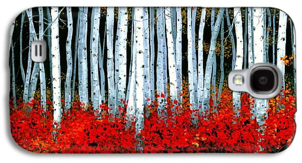 Natural Galaxy S4 Cases - Birch 24 x 48 - SOLD Galaxy S4 Case by Michael Swanson