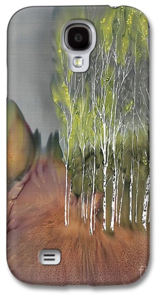 Autumn Landscape Tapestries - Textiles Galaxy S4 Cases - Birch Grove 1 Galaxy S4 Case by Carolyn Doe