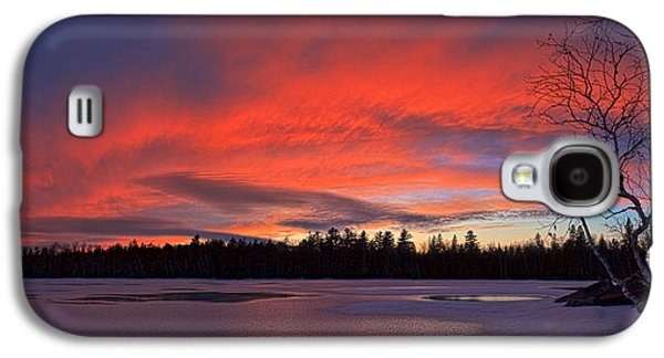 Maine Winter Galaxy S4 Cases - Birch Point Sunset Panorama Galaxy S4 Case by Bill Caldwell -        ABeautifulSky Photography