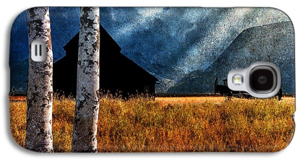 Old Barns Paintings Galaxy S4 Cases - Birch Trees and Biplanes  Galaxy S4 Case by Bob Orsillo