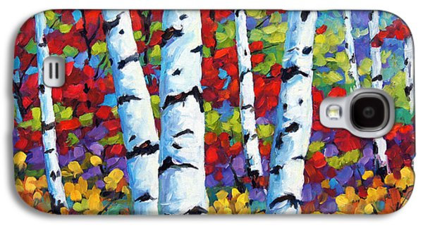Canadiens Paintings Galaxy S4 Cases - Birches in abstract by Prankearts Galaxy S4 Case by Richard T Pranke