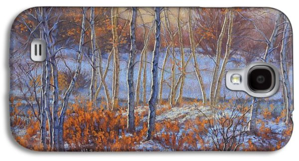 Universities Pastels Galaxy S4 Cases - Birches in First Snow Galaxy S4 Case by Fiona Craig