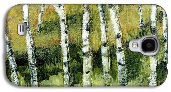 Aspen Galaxy S4 Cases - Birches on a Hill Galaxy S4 Case by Michelle Calkins