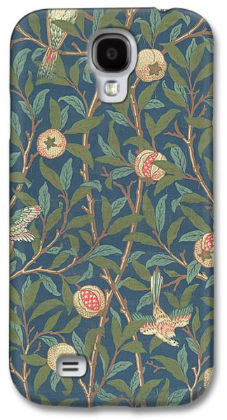 Floral Tapestries - Textiles Galaxy S4 Cases - Bird and Pomegranate Galaxy S4 Case by William Morris