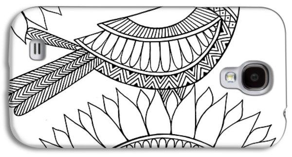Bird Crow Galaxy S4 Case by Neeti Goswami