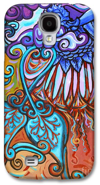 Surrealistic Paintings Galaxy S4 Cases - Bird Heart IV Galaxy S4 Case by Genevieve Esson