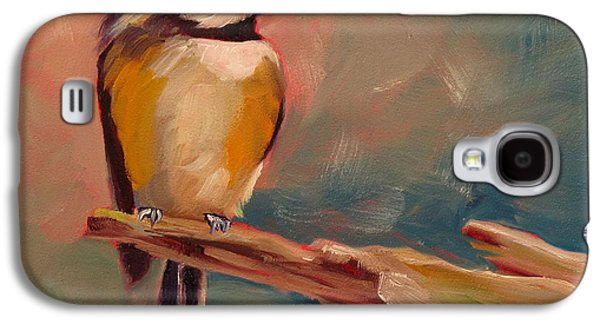 Cage Paintings Galaxy S4 Cases - Bird in Hand Galaxy S4 Case by Kari Melen