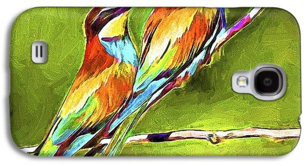 House Pet Digital Art Galaxy S4 Cases - Bird Love Galaxy S4 Case by Yury Malkov