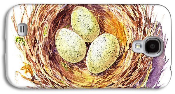 Bird Nest A Happy Trio Galaxy S4 Case by Irina Sztukowski