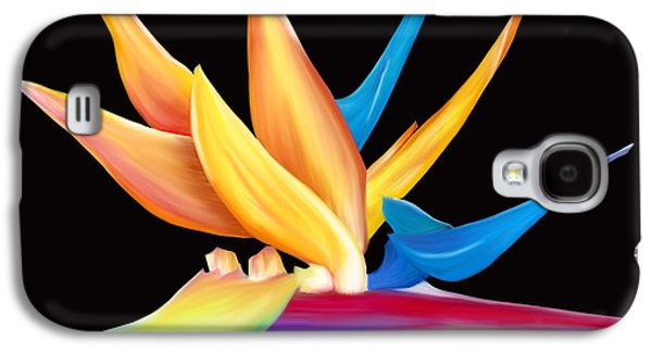 Botanical Pastels Galaxy S4 Cases - Bird of Paradise Galaxy S4 Case by Laura Bell