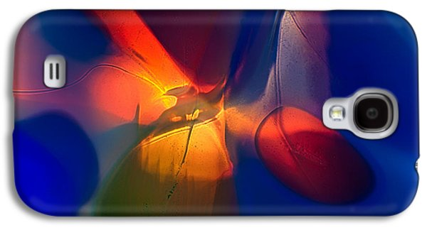 Abstract Nature Glass Galaxy S4 Cases - Bird on a Snowboard Galaxy S4 Case by Omaste Witkowski
