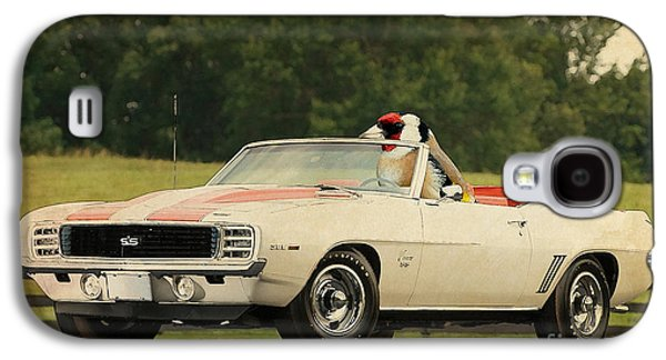 Posters On Mixed Media Galaxy S4 Cases - Bird on Camaro 1969 Galaxy S4 Case by Pablo Franchi