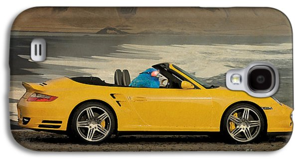 Posters On Mixed Media Galaxy S4 Cases - Bird on Porsche 911 Galaxy S4 Case by Pablo Franchi