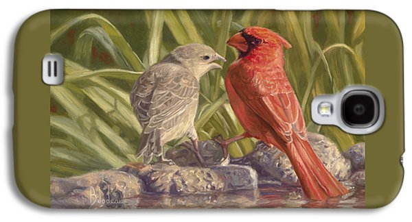Young Birds Galaxy S4 Cases - Bird Talk Galaxy S4 Case by Lucie Bilodeau