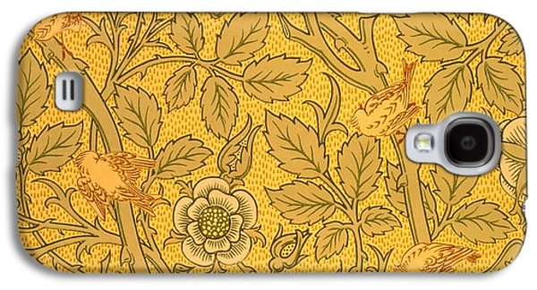 Floral Tapestries - Textiles Galaxy S4 Cases - Bird wallpaper design Galaxy S4 Case by William Morris