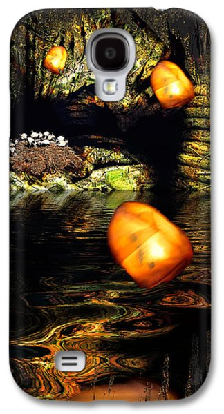 Mystical Landscape Mixed Media Galaxy S4 Cases - Birdcave Galaxy S4 Case by Carl Rolfe