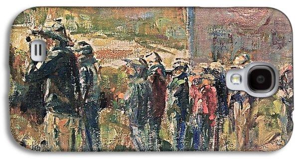 Penobscot Bay Paintings Galaxy S4 Cases - Birders on Monhegan Galaxy S4 Case by Bruce Jones