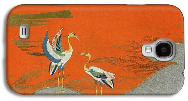 Birds At Sunset On The Lake Galaxy S4 Case by Kamisaka Sekka