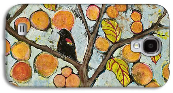 Artistic Paintings Galaxy S4 Cases - Birds in Paris Landscape Galaxy S4 Case by Blenda Studio