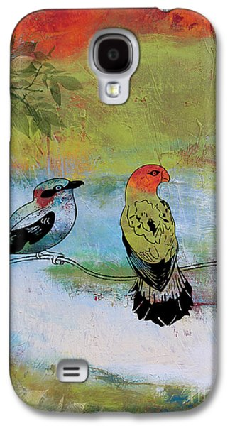 Abstract Digital Paintings Galaxy S4 Cases - Birds in the Valley-A Galaxy S4 Case by Jean Plout