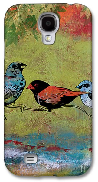 Abstract Digital Paintings Galaxy S4 Cases - Birds in the Valley-B Galaxy S4 Case by Jean Plout
