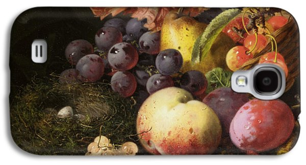 Pare Galaxy S4 Cases - Birds Nest Butterfly And Fruit Basket Galaxy S4 Case by Edward Ladell