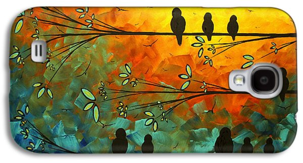 Madart Galaxy S4 Cases - Birds of a Feather Original Whimsical painting Galaxy S4 Case by Megan Duncanson